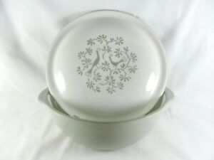 "Harker Peacock Alley Vegetable Serving Bowl, 8-3/8"", casserole, gray, grey, vtg"