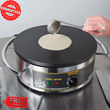 """Round Stainless Steel Crepe Maker Portable Cooking 16"""" Kitchen Restaurant - Usa"""