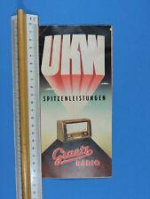 Werbeprospekt von GRAETZ, aus den 50er Jahren. | LgNr.: F5045