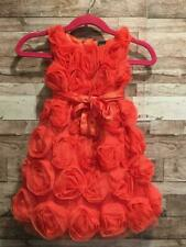 Nwt Baby Gap Rosette Tulle Dress Holiday Wonderland 5T 5 Years Rose Fire Coral