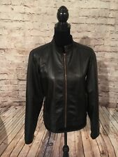 George Women's Pleather Black Casual Spring Jacket. Size: 8-10