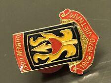 "Vietnam 199th Infantry Division Lapels Hat Pin (1"") 1966 - 1970 Enamel Military"