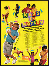 KIDS IN MOTION__Original 1987 print AD / video promo__SCOTT BAIO__JULIE WEISSMAN