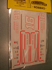 #16 Rusty Wallace 79-80 NORTON / PENSKE CHEVY WATER SLIDE DECAL SHEET 1/24