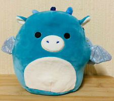 """Squishmallows Tatiana The Dragon 7.5"""" Super Soft Plush Toy With Tag Teal"""