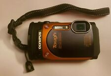 OLYMPUS STYLUS TOUGH TG-860 ORANGE WATERPROOF CAMERA WITH BATTERY, SD CARD, CORD