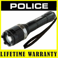 POLICE Stun Gun Metal 8810 78 BV Rechargeable With LED Flashlight Taser Case