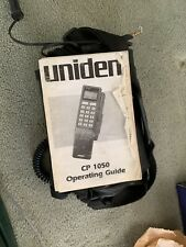 Vintage 80s Uniden CP1050 Mobile Car Phone Cell w Carry Case Manual - Untested
