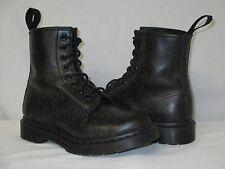 Doc Dr Martens 13661 Black FLOWERS Leather Combat Boots Size UK 3 US 5 EXCELLENT