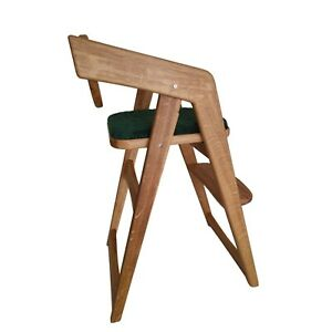 Gladco Green stool Oak Wood Baby Highchair Feed Kids Chair Toddler Safety Seat