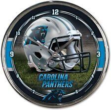 NFL Panthers de la Caroline Horloge Murale Mur Horloge Chrome Montre Football