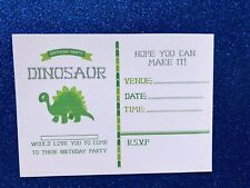 HANDMADE PERSONALISED BIRTHDAY INVITES PARTY INVITATIONS Dinosaur Party X12🦖