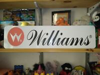 "Williams Sign, 6"" x 24"" Williams Pinball Aluminum Display!"