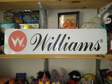 "Williams Sign, 6"" x 24"" Williams Pinball Aluminum Display!"