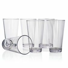 20oz 6pc Plastic Tumbler Set Drinking Glasses Water Cups Kitchen Glassware Juice