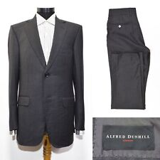 Men's Alfred Dunhill London Suit 46IT 36US/UK Gray Wool Luxury Made in Italy Top