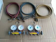 Yellow Jacket Test and Charging Manifold Gauges Hoses Hvac A.C
