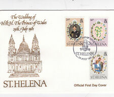 St Helena 1981 Royal Wedding Charles&Diana FDC Unadressed VGC