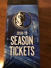 Dallas Mavericks vs Chicago Bulls Unused Ticket 10/22/18