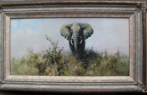Tony Forrest Original Oil Painting of an Elephant