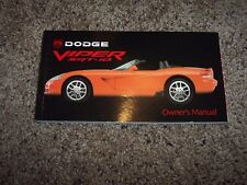 2003 Dodge Viper SRT-10 Owner Owner's User Guide Operator Manual 8.3L V10