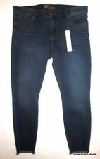 Kut from The Kloth NWT Jeans WOMENS 14 Dark Faded Denim Skinny Leg Fray Hems NEW
