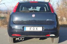 FOX Sportauspuff Fiat Grande Punto 199 1.2l 1.4l 2x76mm eingerollt Abs. RohrØ