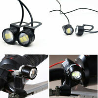 2x Motorcycle White LED Eagle Eye Light Daytime Running Lamp Headlight Spotlight