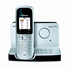 Siemens Gigaset S685 Single Cordless Phone Wall Mountable Black & Silver
