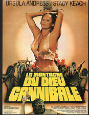 SLAVE OF THE CANNIBAL GOD URSULA ANDRESS SET OF 10 FRENCH PHOTOS AND PRESS SHEET