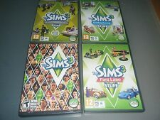 Sims 3 LOT Base game & Outdoor living Fast lane  DESIGN & HIGH TECH STUFF PACKS