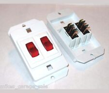 2 PCS  RED ILLUMINATED LIGHTED RV MINI 12 VOLT  2 GANG SWITCH you get 2 switches