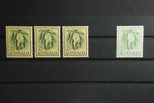 P2 Australia (Commonw.) 300a (3 pezzi) & 300 BX (1 pezzi) post freschi
