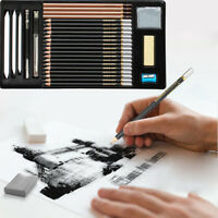 29Pcs Sketch&Drawing Printing Pencil Set Sketching Art Kit Tools Utility(3H-12B)