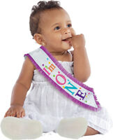 New Rainbow 1st Birthday Girl Sash