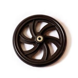 "HEALTHLINE Wheels (REAR) for Walker Rollator 7.5"" Inch Black, Pair"