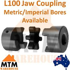 """L100 Jaw Coupling 18 19 20 22 24 25 28 30 32 35 38mm 5/8 3/4 7/8 1"""" 1/8"""" 1 1/4"""""""