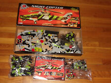 1998 Mega Bloks Pro-Builder Night Copter 9740 in Box Excellent Condition