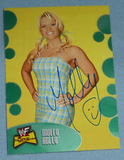 Molly Holly Signed 2001 WWF WWE Fleer The Ultimate Diva Collection Card #48 Auto