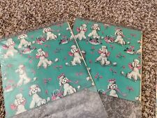 Vintage Poodle with Pink Ribbon Wrapping paper