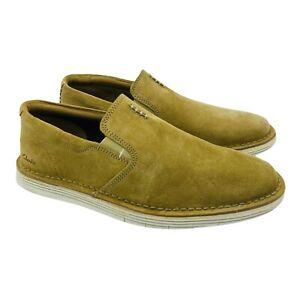 Clarks Men's Forge Free Slip-on Comfort Suede Loafer Dark Sand Size 9 Shoes