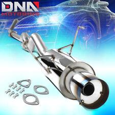 "FOR 2001-2005 HONDA CIVIC EX GX CAT-BACK EXHAUST SYSTEM+4""OD BURNT MUFFLER TIP"