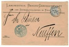 GERMANY YR.1894.WURTTEMBERG 20Pf COMPANY COVER TO NEUFFEN  USED.