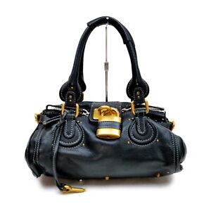 Chloe Shoulder Bag  Black Leather 1429788