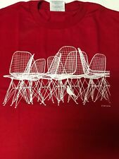 Eames Red Wire Chair & Bird T-Shirt