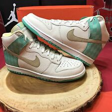 Nike Dunk High Premium Sail/Tweed-Azure 312786-121 Size 12 Diamond SB Jordan I X