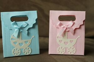 10 xHANDMADE  BABY GIRL / BOY BABY SHOWER / GENDER REVEAL  FAVOUR  BOXES