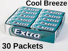 30 Packets Wrigleys Extra Chewing Gum Cool Breeze Sugar Free £11.49! FREE POST