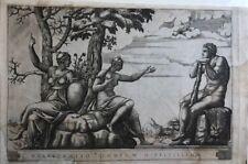 ADAMO SCULTORI; ERCOLE AL BIVIO.1547 ca,GIULIO ROMANO:Bulino