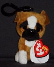 TY BEANIE BOOS - BRUTUS the DOG KEY CLIP - MINT with MINT TAG